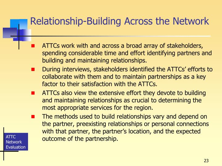 Relationship-Building Across the Network
