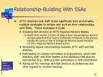 relationship building with ssas