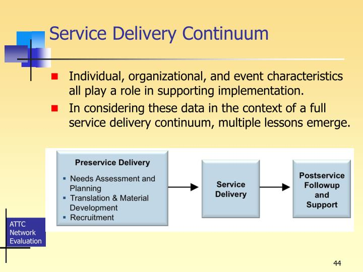 Service Delivery Continuum