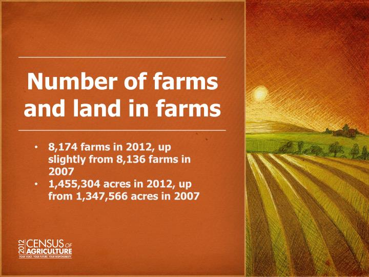 Number of farms and land in farms