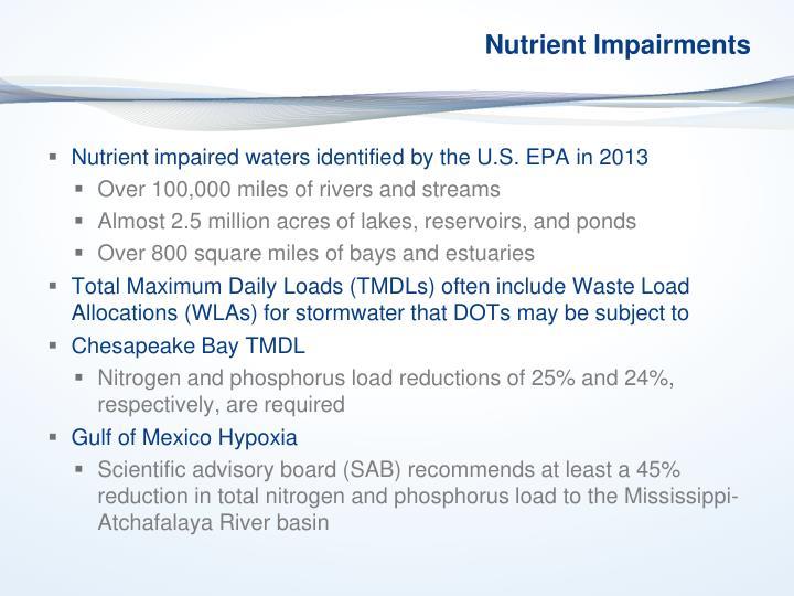 Nutrient Impairments