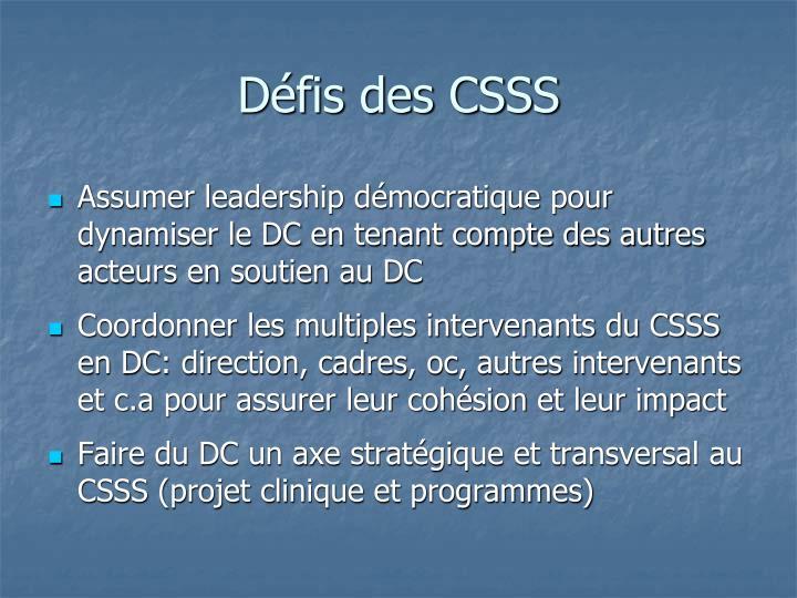 Défis des CSSS