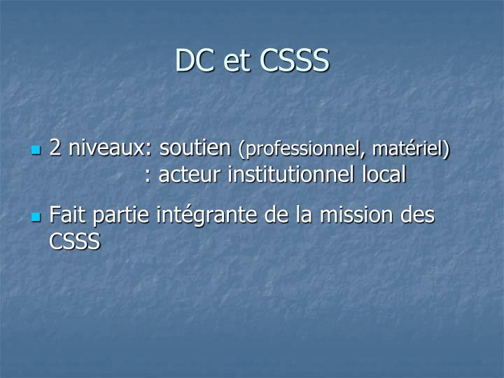 DC et CSSS
