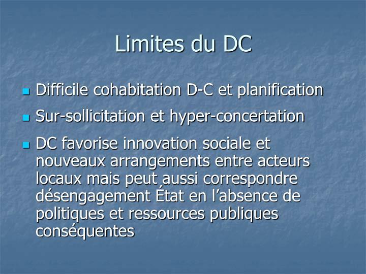 Limites du DC