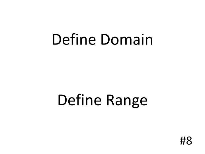 Define Domain