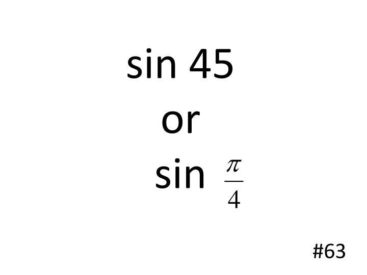 sin 45