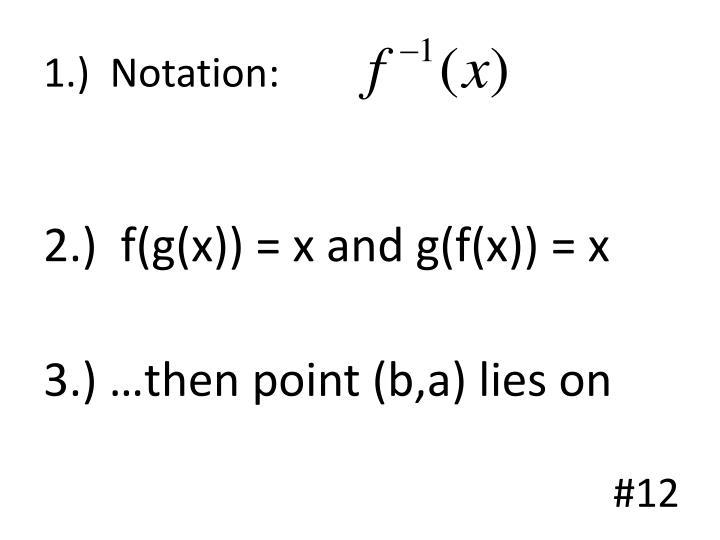 1.)  Notation