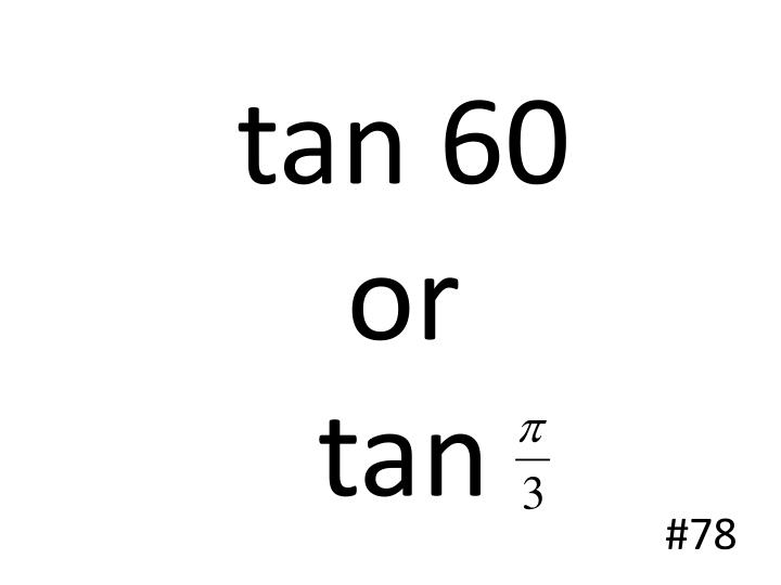 tan 60