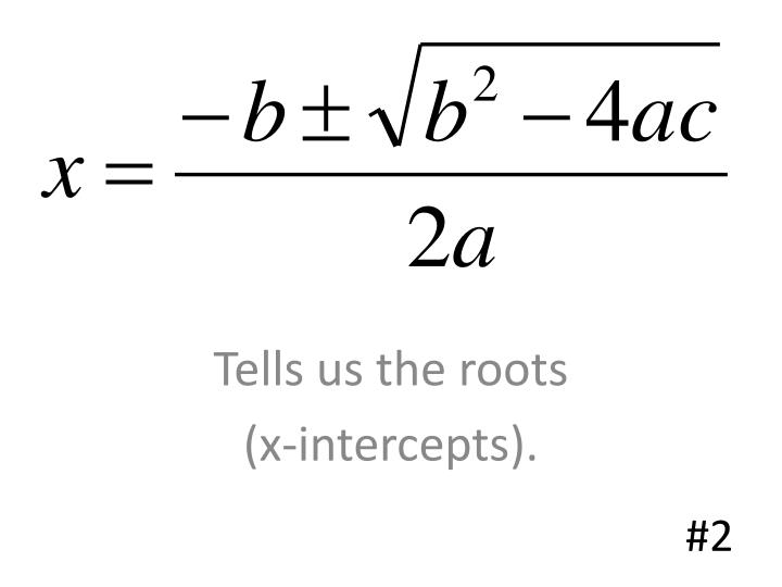 Tells us the roots