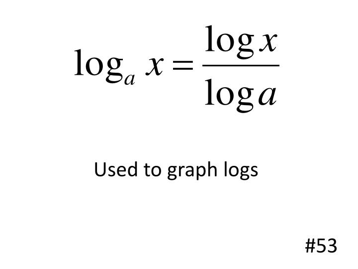 Used to graph logs