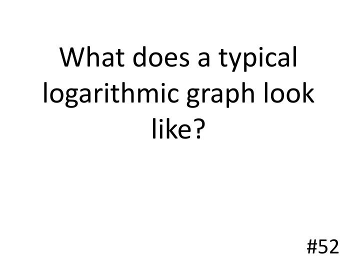 What does a typical logarithmic graph look like?