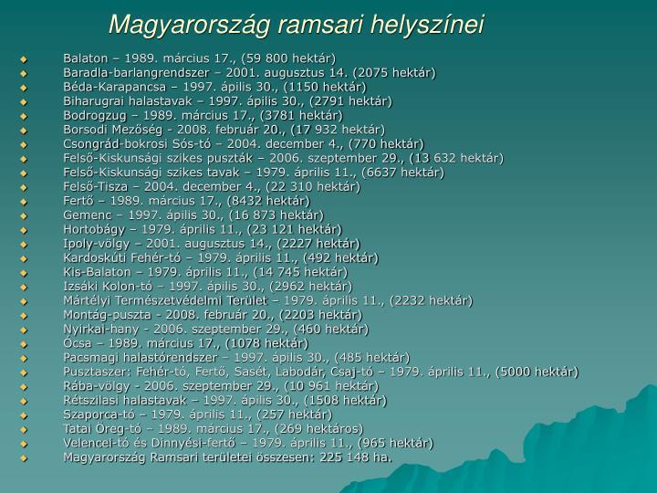 Magyarország ramsari helyszínei
