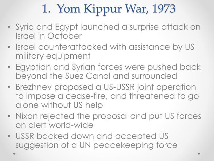 1.  Yom Kippur War, 1973