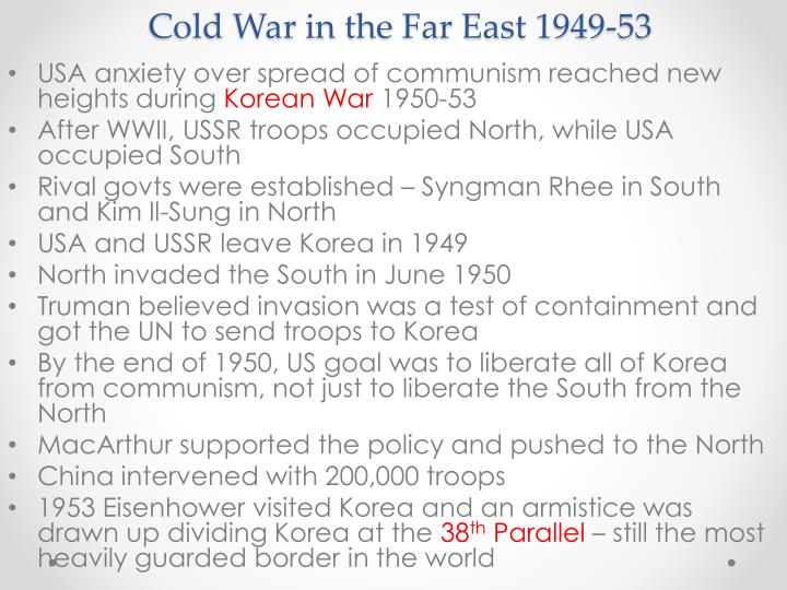 Cold War in the Far East 1949-53