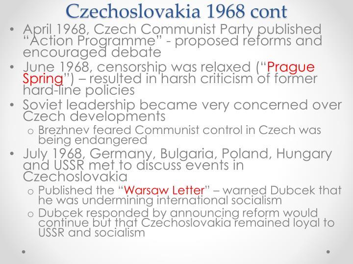 Czechoslovakia 1968 cont