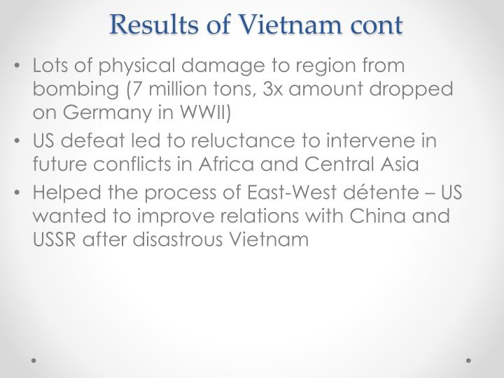 Results of Vietnam cont
