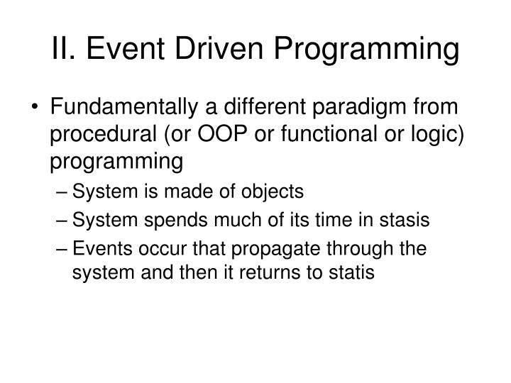 II. Event Driven Programming