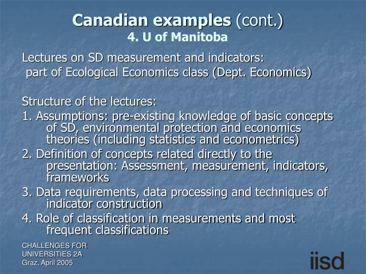 Canadian examples