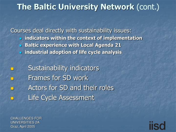 The Baltic University Network
