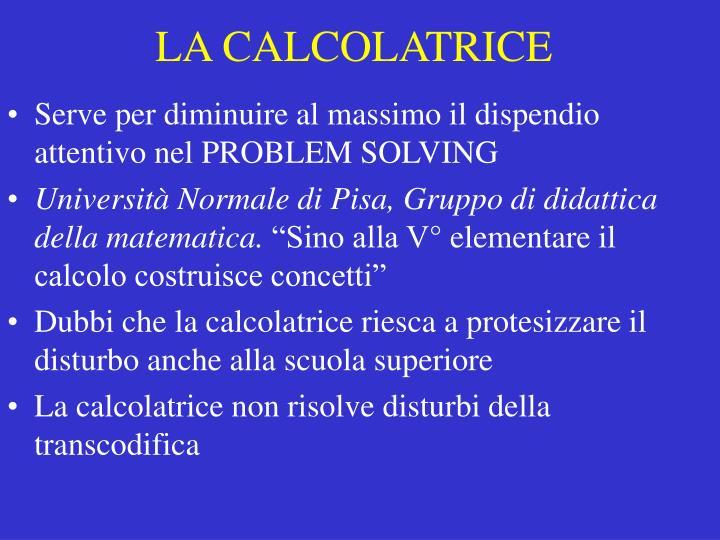 LA CALCOLATRICE