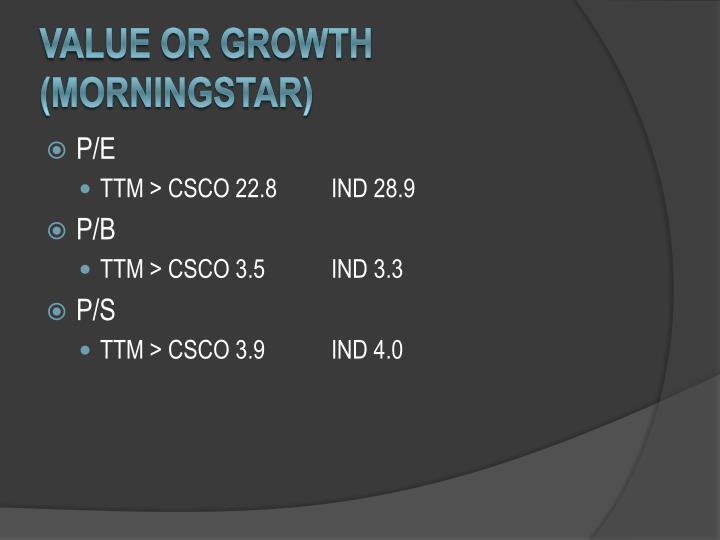 Value or growth (Morningstar)