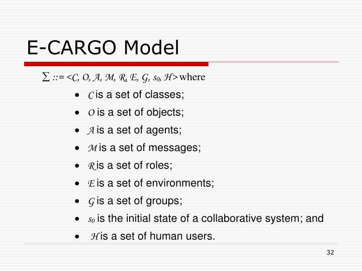 E-CARGO Model