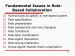 fundamental issues in role based collaboration