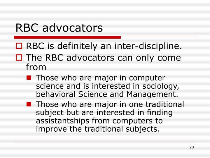 RBC advocators