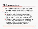 rbc advocators