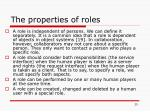 the properties of roles