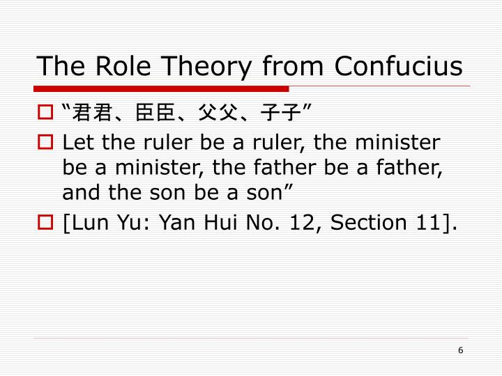 The Role Theory from Confucius