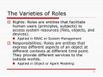 the varieties of roles