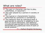 what are roles