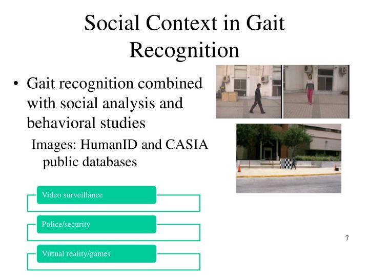 Social Context in Gait Recognition