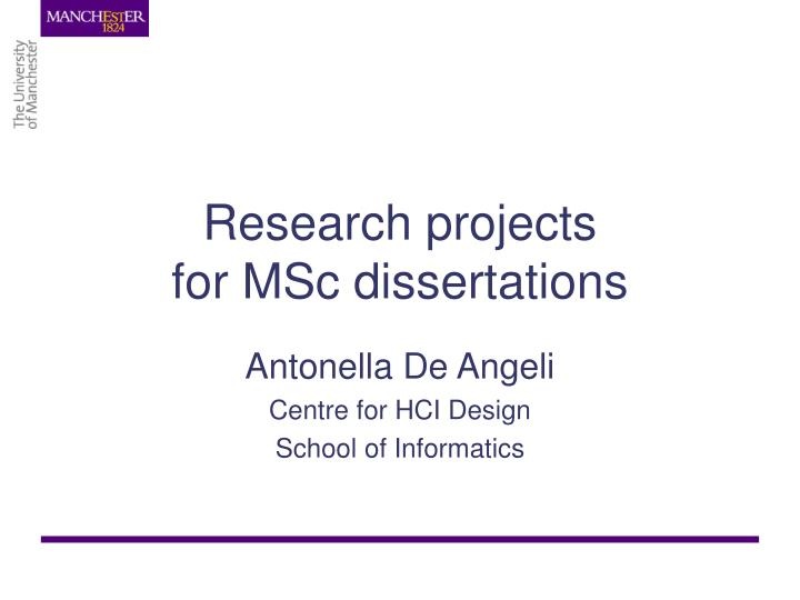 Msc dissertation topics