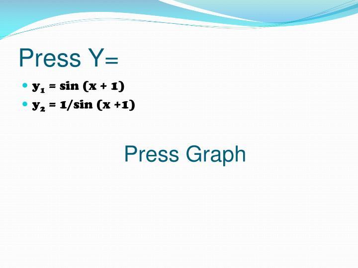 Press Y=