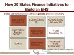 how 20 states finance initiatives to build on ehs