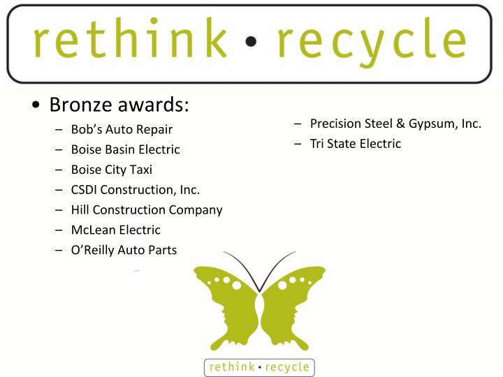 Bronze awards: