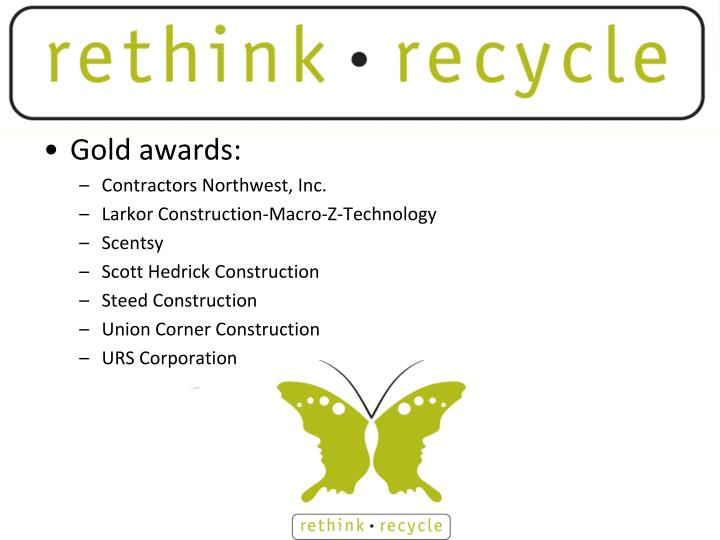 Gold awards: