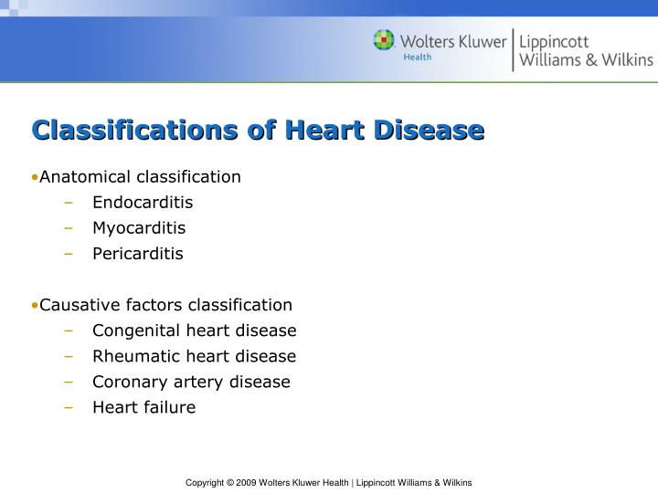 Classifications of Heart Disease