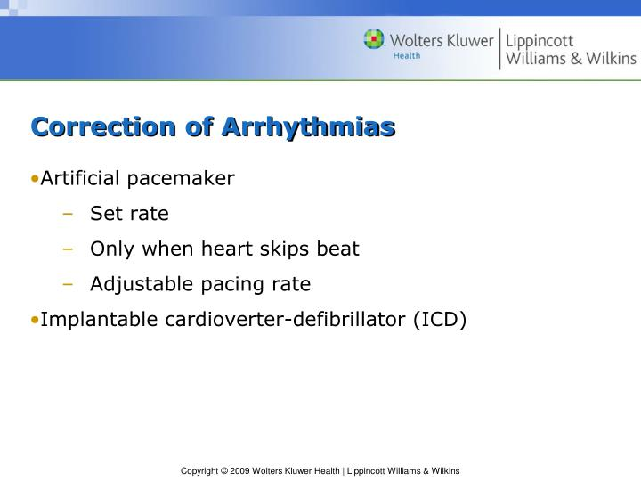 Correction of Arrhythmias