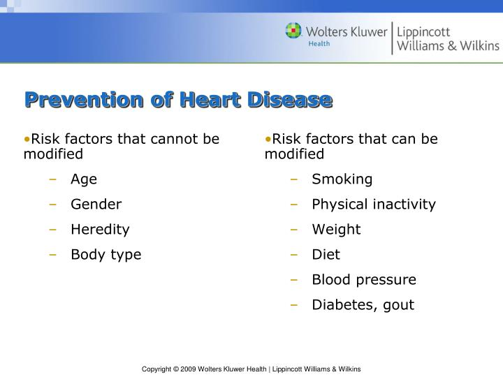 Risk factors that cannot be modified