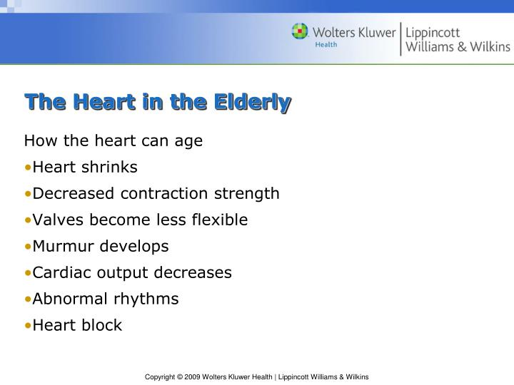 The Heart in the Elderly