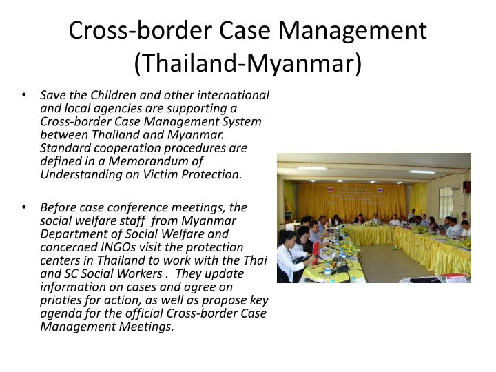 Cross-border Case Management (Thailand-Myanmar)