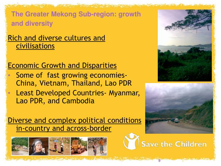 The Greater Mekong Sub-region: growth and diversity