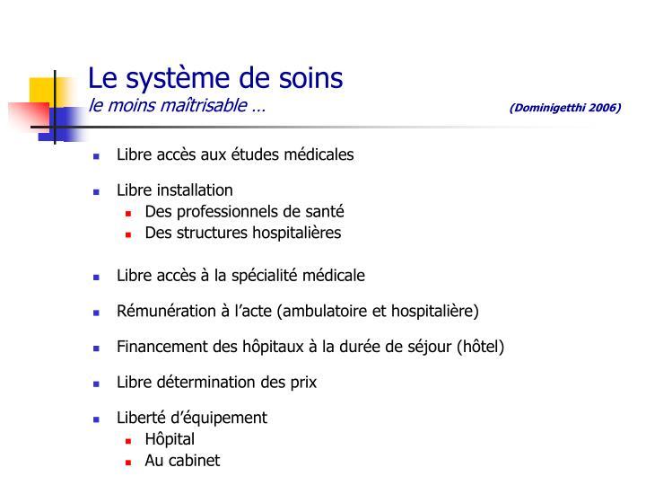 Le système de soins