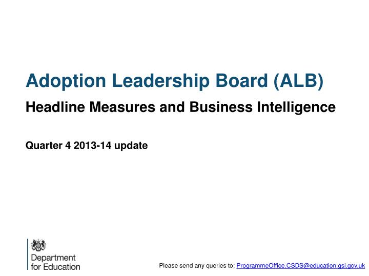Adoption leadership board alb