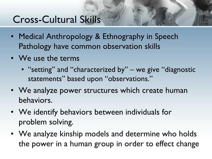Cross-Cultural Skills