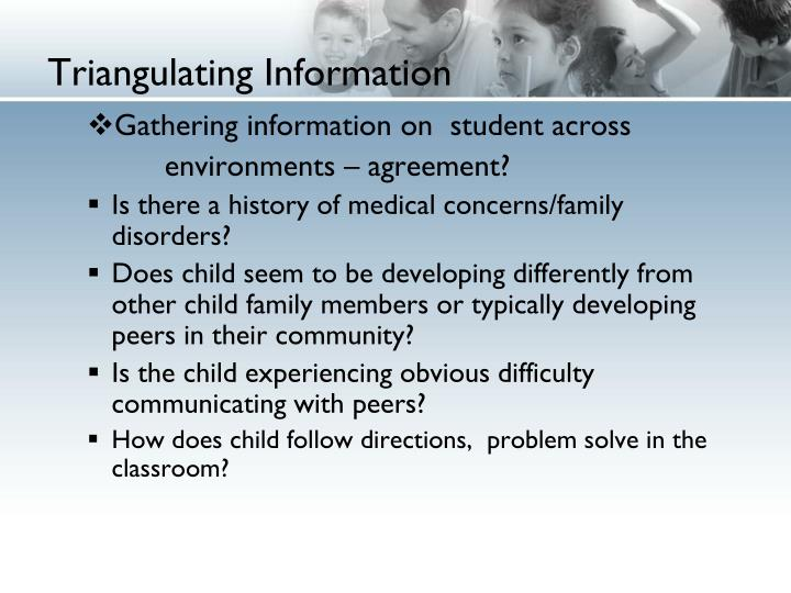 Triangulating Information