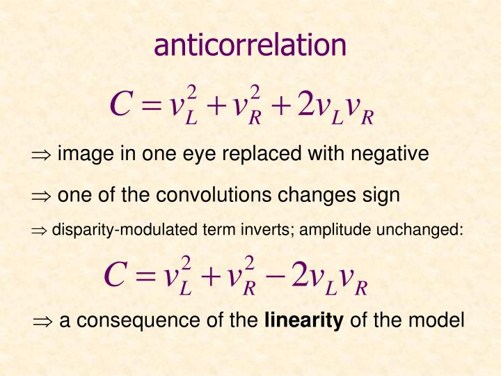 anticorrelation